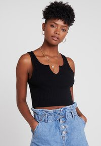 Topshop - NOA NOTCH 2 PACK - Top - black/white - 4