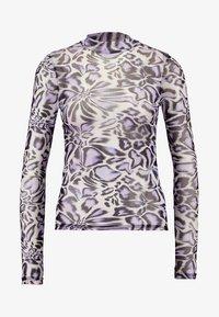 Topshop - ANIMAL FUNNEL - Maglietta a manica lunga - white - 3