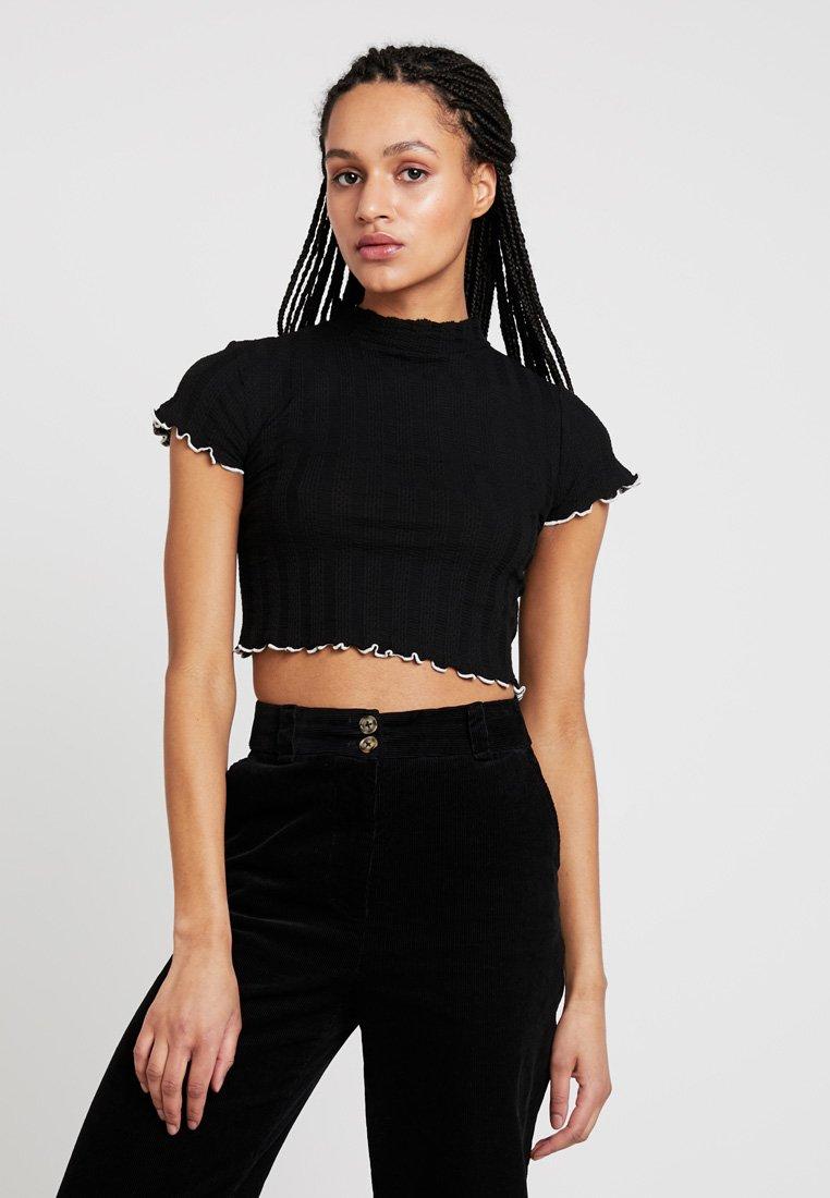Topshop - FLURO TIP LETTUCE - T-Shirt print - black
