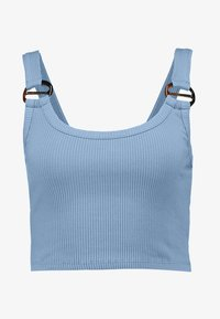Topshop - BUCKLE CROP - Top - blue