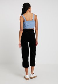 Topshop - BUCKLE CROP - Top - blue - 2