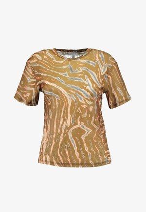 CAMO TIGER - Print T-shirt - orange