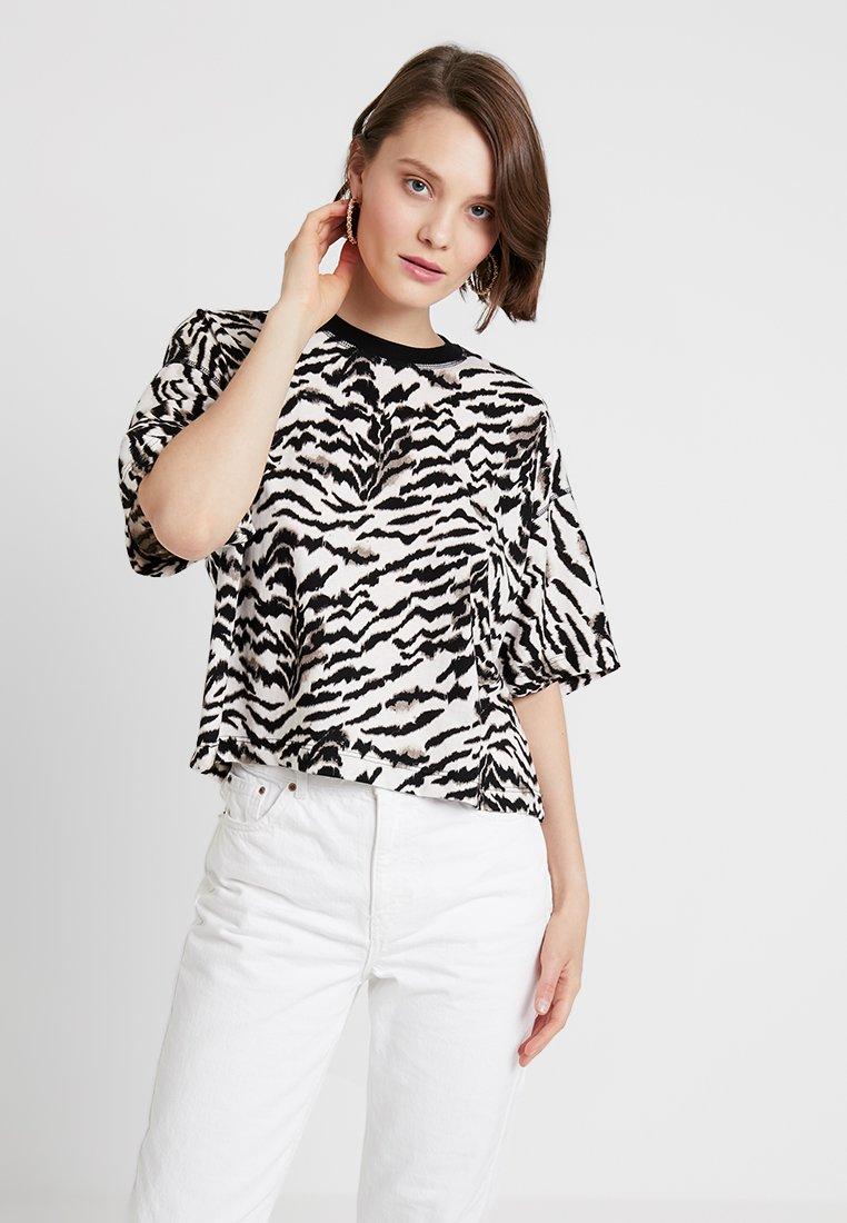 Topshop - TIGER BOXY TEE - T-Shirt print - black