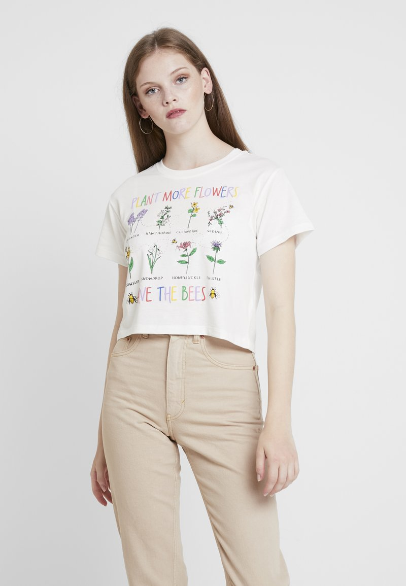 Topshop - SAVE THE BESS - T-Shirt print - white