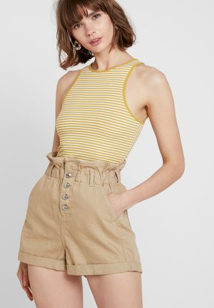 STRIPE RACER 2 PACK  - Top - brown/yellow