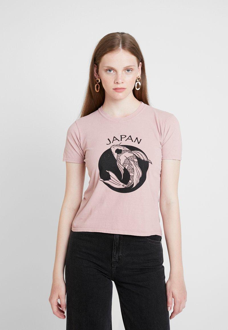 Topshop - JAPAN TEE - T-Shirt print - pink