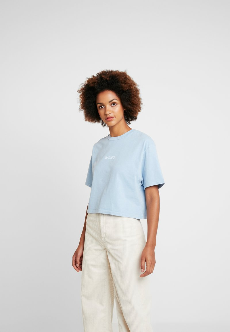 Topshop - MALIBU WASHED TEE - T-Shirt print - blue