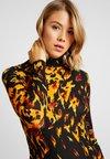 Topshop - FLAME - Shift dress - black/orange