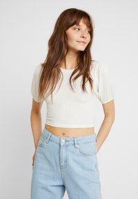 Topshop - PUFF SLEEVE - T-Shirt print - cream - 2