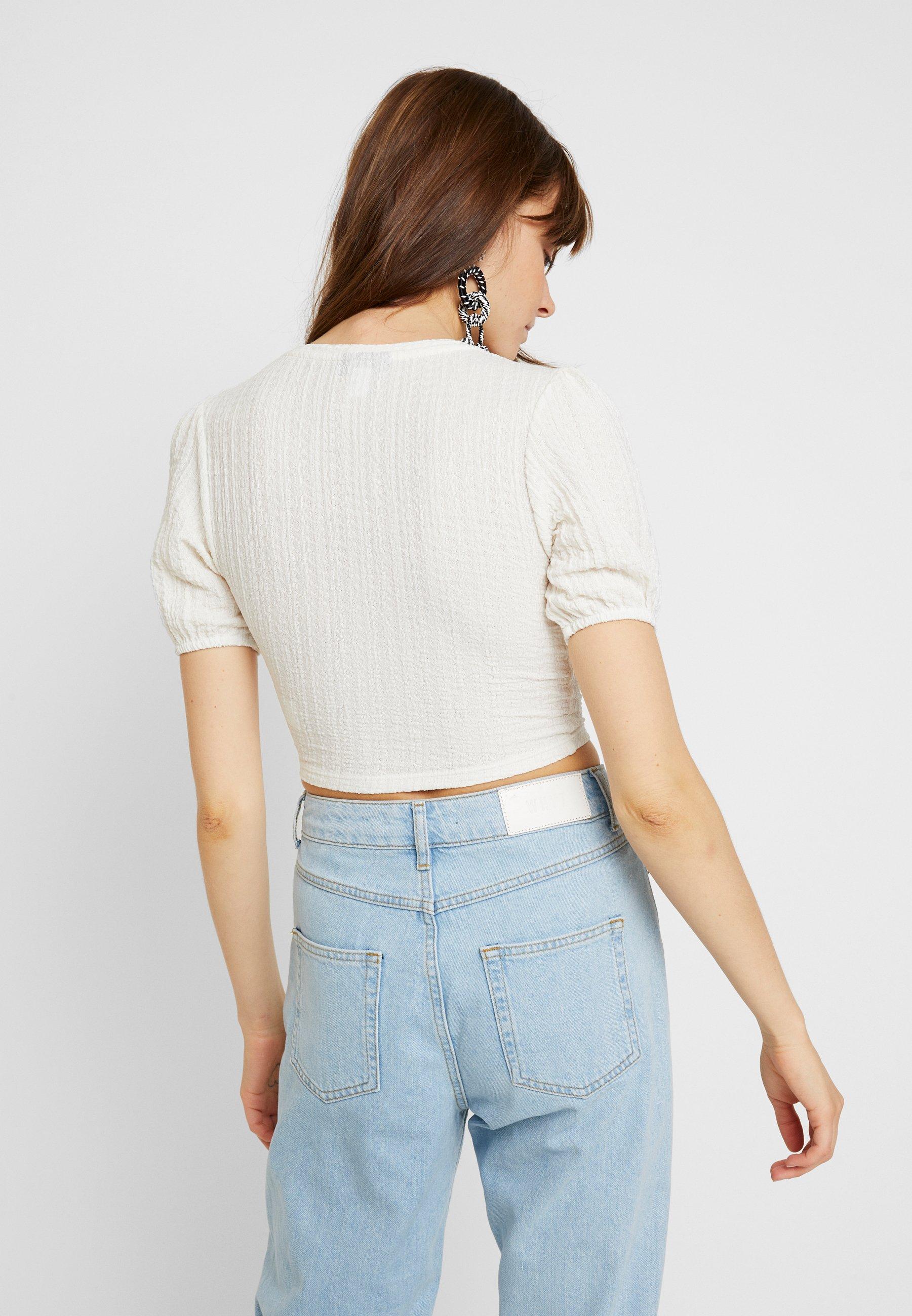 Topshop Imprimé SleeveT shirt Puff Cream TKlJc3F1