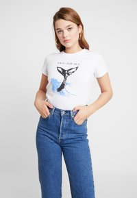 Topshop - SAVE THE SEA - T-shirt med print - white - 0