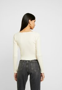 Topshop - LETTUCE BUTTON - Long sleeved top - cream - 2