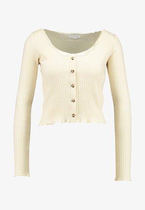 LETTUCE BUTTON - Långärmad tröja - cream