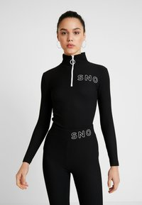 Topshop - SNO THERMAL - T-shirt sportiva - black - 0