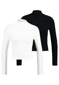 Topshop - FUNNEL 2 PACK - T-shirt à manches longues - black/white - 0