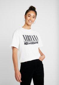 Topshop - NIRVANA - T-shirt imprimé - white - 0