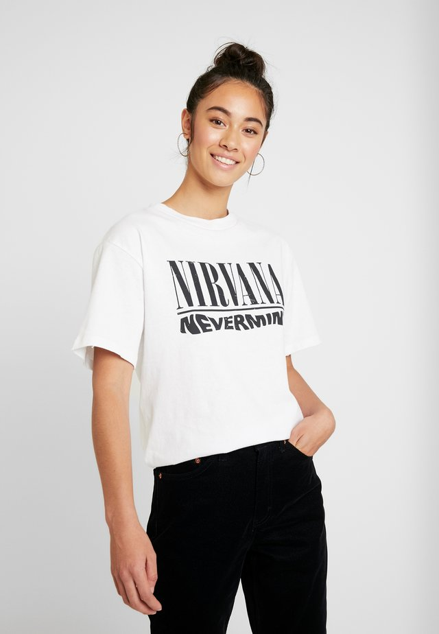 NIRVANA - T-shirt print - white