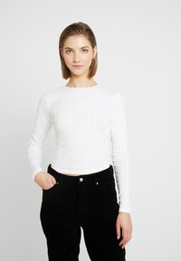 Topshop - POINTELLE 2 PACK - Long sleeved top - black/white