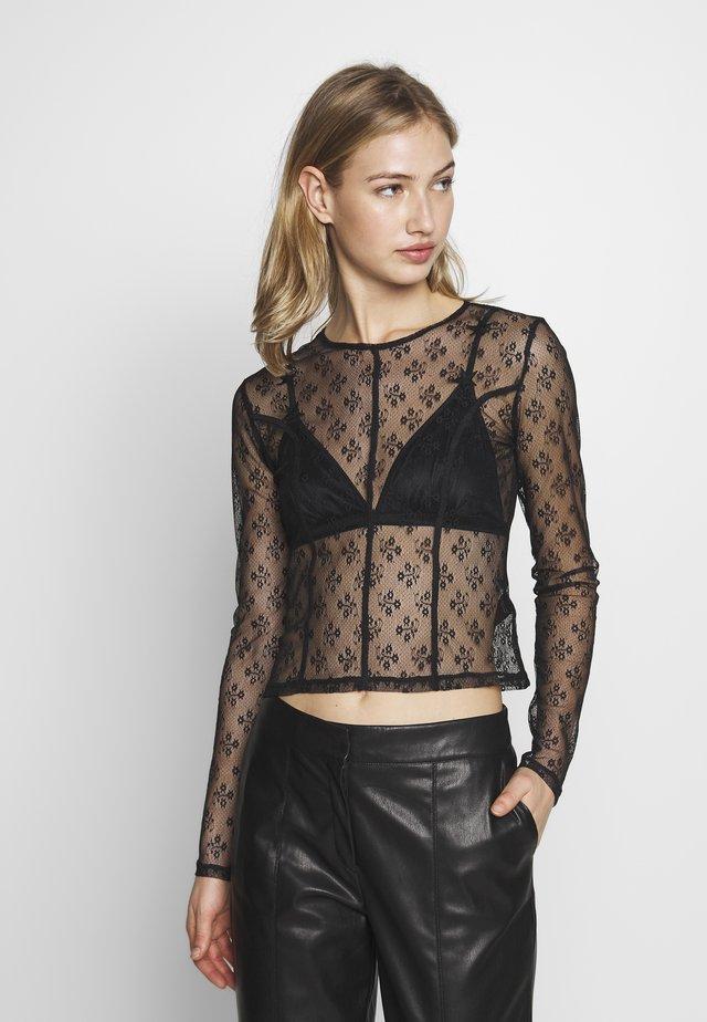 SEAM CREW - T-shirt à manches longues - black