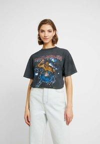 Topshop - IRON MAIDEN - Camiseta estampada - black - 0