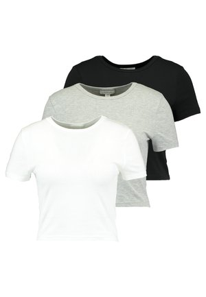 EVERYDAY TEE 3 PACK - T-shirt print - black/white/grey