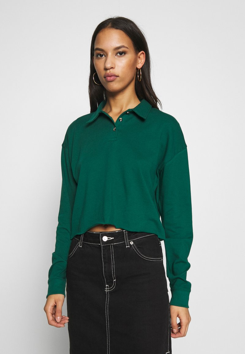 Topshop - RUGBY POLO - Langarmshirt - green