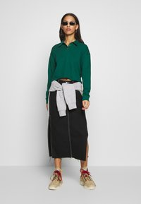 Topshop - RUGBY POLO - Longsleeve - green - 1