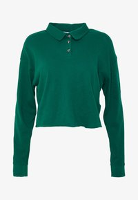 Topshop - RUGBY POLO - Long sleeved top - green - 4