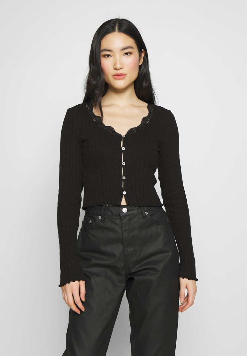 Topshop - CARDI - Long sleeved top - black