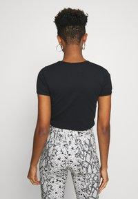 Topshop - SCALLOP TEE - T-shirt print - black - 2