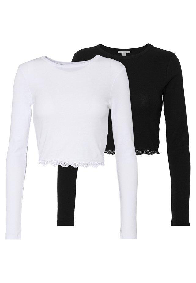 2 PACK HEM - Långärmad tröja - black/white