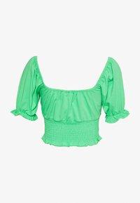Topshop - SHIRRED WAIST PUFF - T-shirt med print - green - 1