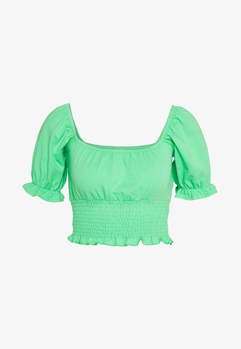 Topshop - SHIRRED WAIST PUFF - T-shirt med print - green