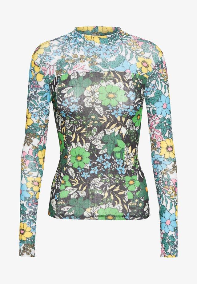 FLOWER POWER FUNNEL - Long sleeved top - multi