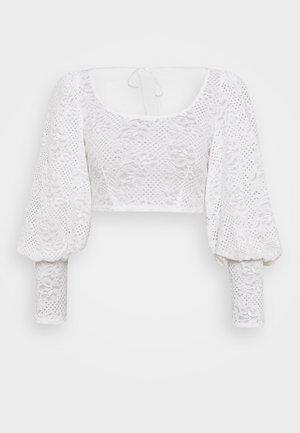 DEEP CUFF BALLOON SLEEVE - Bluse - white