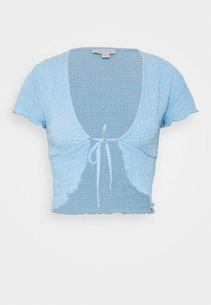 TEXTURED CROP - T-shirt con stampa - blue