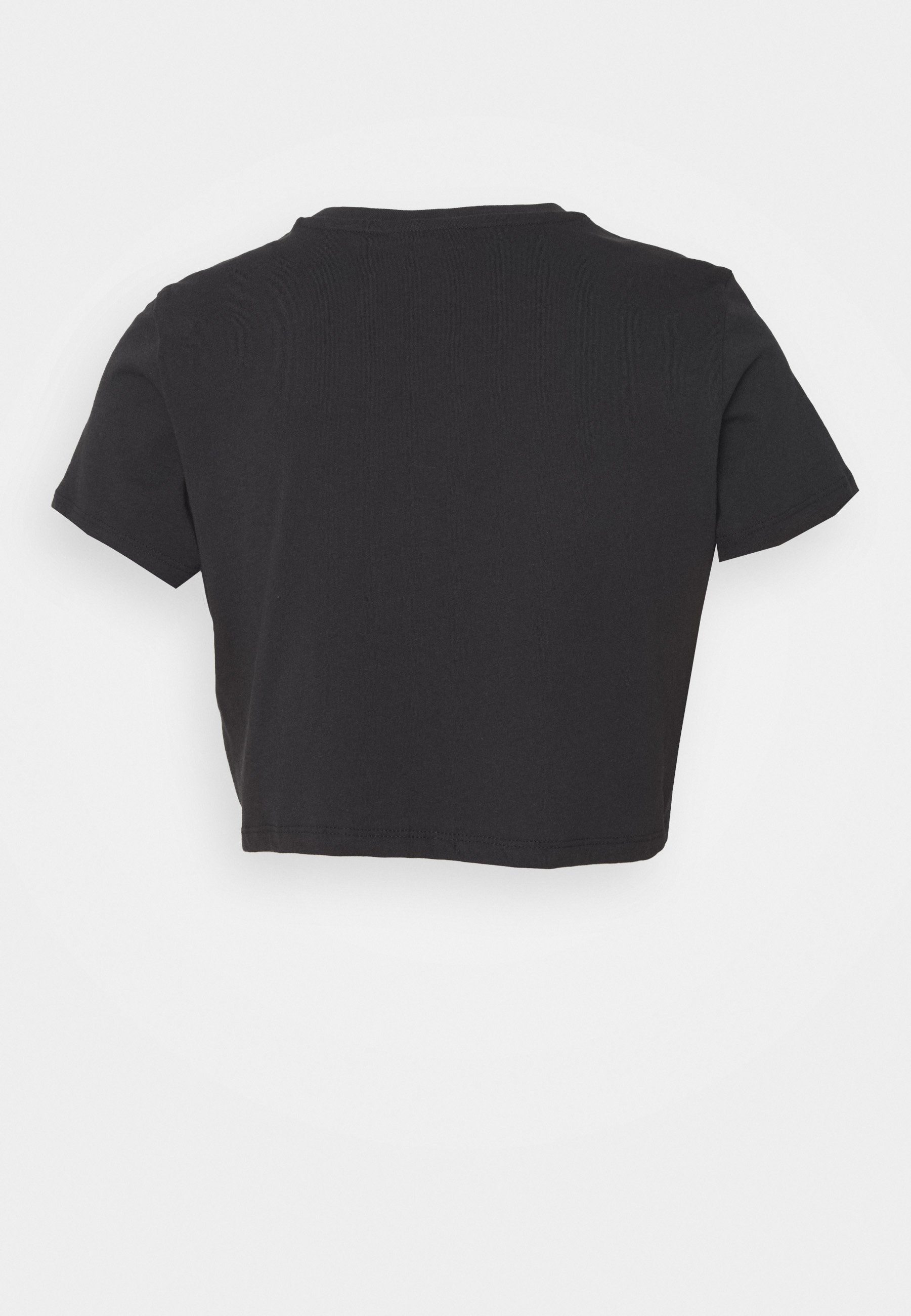 Topshop SPACE BABE CROP TEE - T-shirt con stampa - black BMs2hEfs