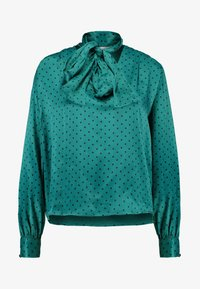 Topshop - SPOT PUSSYBOW BLOUSE - Blouse - green - 3
