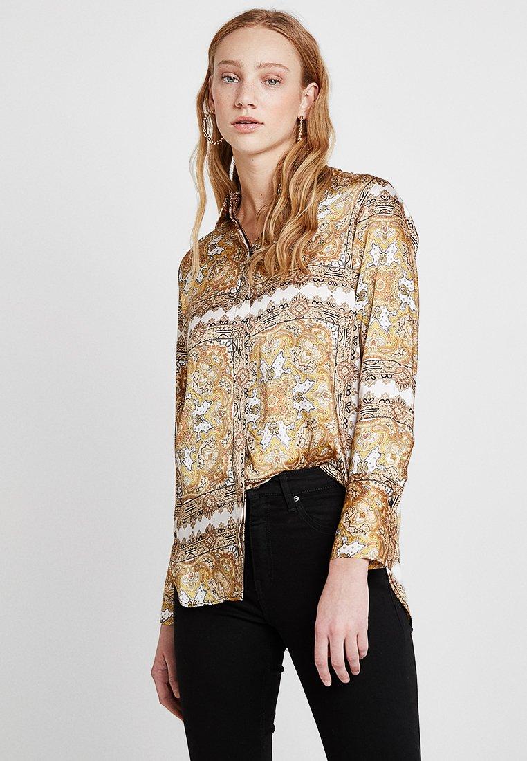 Topshop - PAISLEY SQUARES - Button-down blouse - yellow