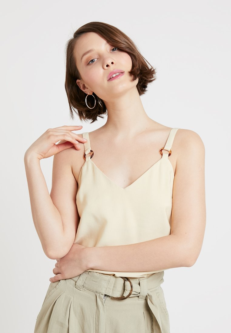 Topshop - TILDA RING CAMI - Blouse - lemon