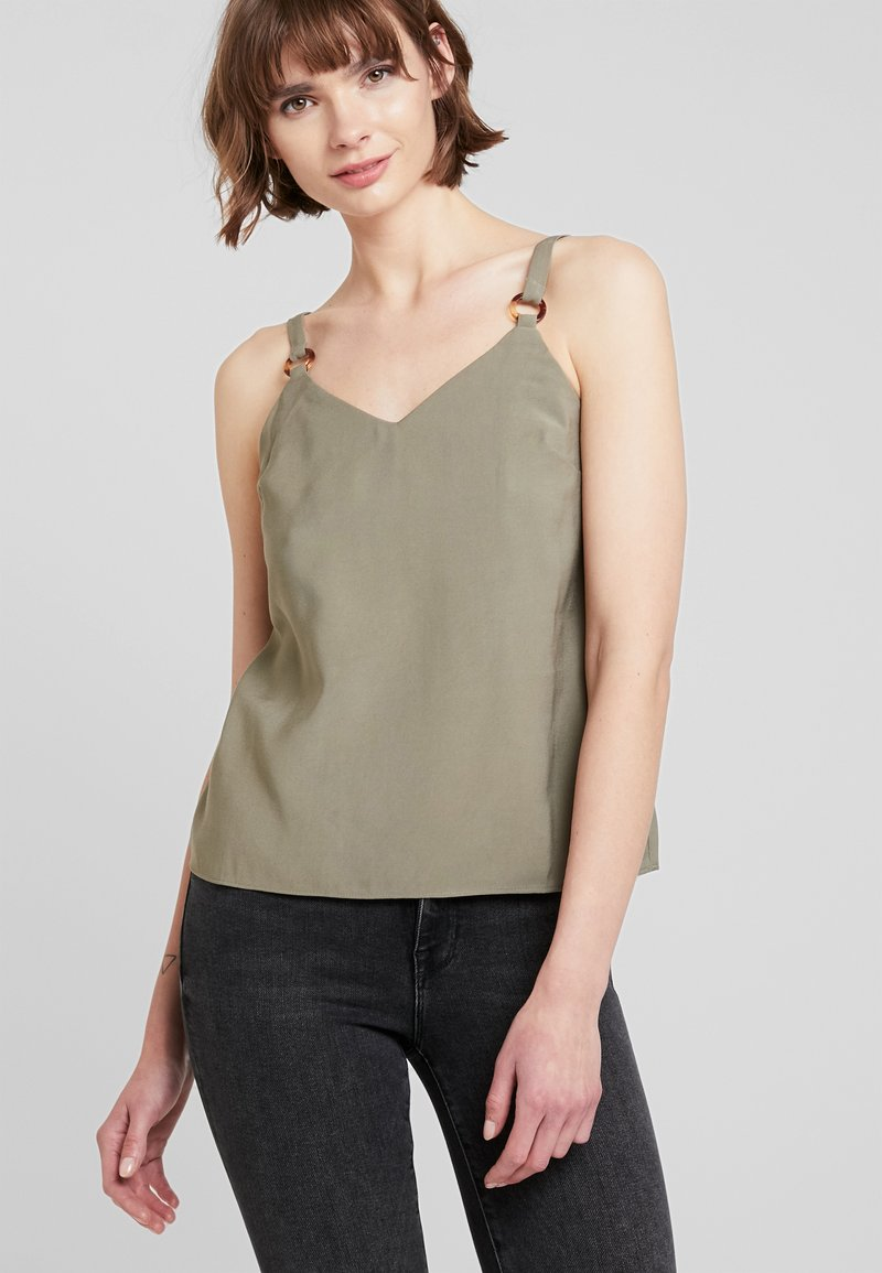 Topshop - TILDA RING CAMI - Bluse - khaki