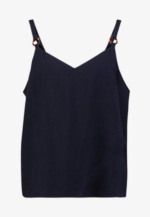 TILDA RING CAMI - Bluzka - washed black