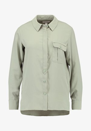 ONE POCKET - Button-down blouse - green