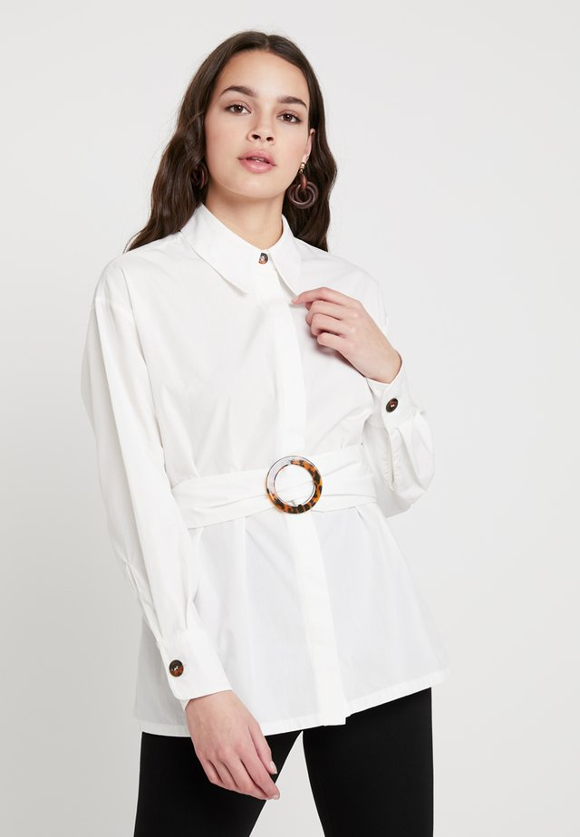 BELTED BUCKLE - Overhemdblouse - off-white