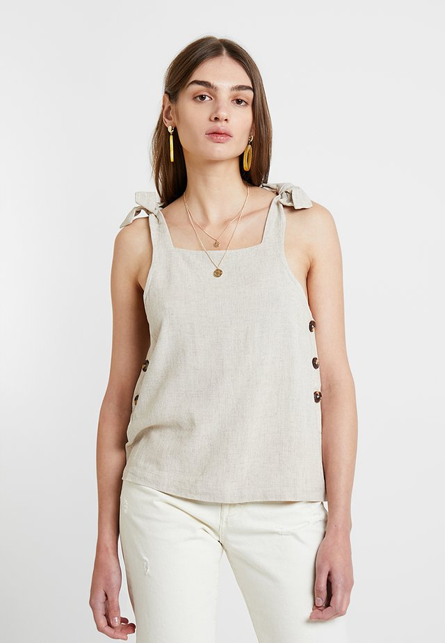 POLY TIE CAMI - Blouse - natural