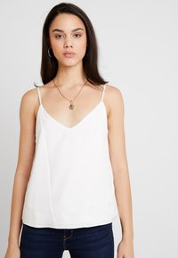 Topshop - PANEL INSERT CAMI - Top - ivory - 2