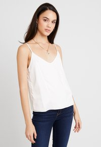 Topshop - PANEL INSERT CAMI - Top - ivory - 1