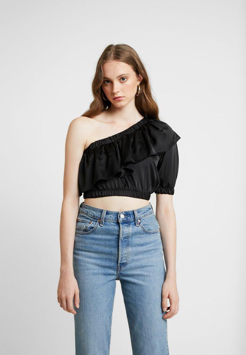Topshop - RUFFLE - Bluse - black
