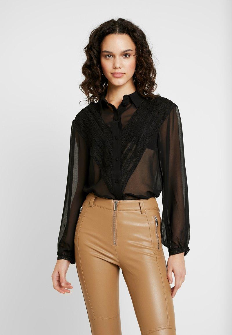 Topshop - PANEL - Camisa - black