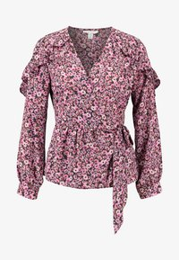 Topshop - DITSY FLORAL FRILL - Pusero - pink - 4